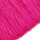 Шнур хлопок плетеный, цвет красный 1 мм