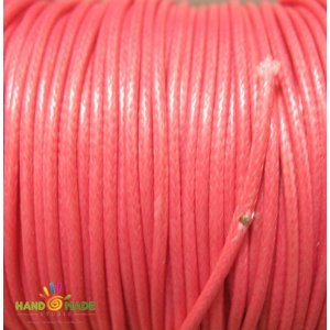 Шнур хлопок плетеный, цвет лососевый 2 мм