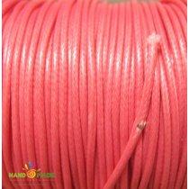 Шнур хлопок плетеный, цвет лососевый 1 мм
