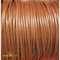 Шнур синтетический плетеный, цвет светло-коричневый 1 мм, 1м.