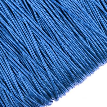 Шнур хлопок плетеный, цвет синий 2 мм