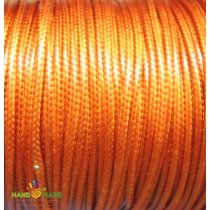 Шнур синтетический плетеный, цвет терракотовый 1 мм, 1м.