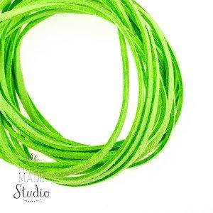 Замшевый шнур натуральный, цвет салатовый, толщина 2,5 мм