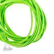 Замшевый шнур, цвет салатовый, толщина 2,5 мм