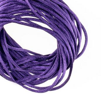 Шнурок шелковый, цвет фиолетовый, 3 мм