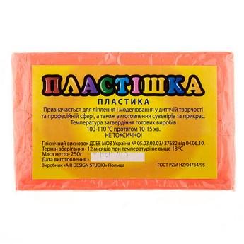 Полимерная глина пластишка оранжевая флуоресцентная, 250 г, 0203