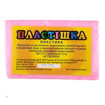 Полимерная глина пластишка светло-розовая флуоресцентная, 250 г, 0205