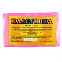 Полимерная глина пластишка розовая  флуоресцентная, 250 г, 0206