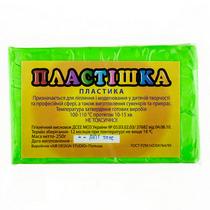 Полимерная глина Пластишка/bebik, №0209 светло-зеленая флуоресцентная, 250 г