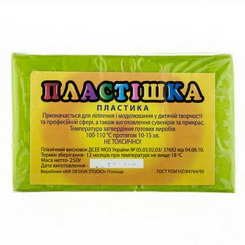 Полимерная глина пластишка/bebik васаби, 250 г, 0117