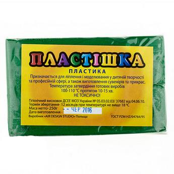 Полимерная глина пластишка/bebik зеленая, 250 г, 0119