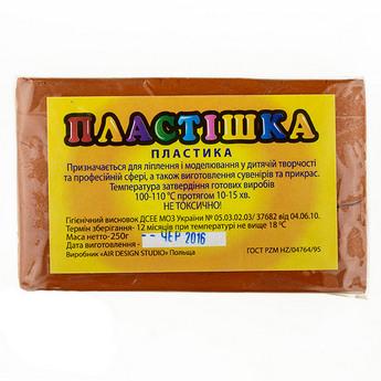 Полимерная глина пластишка/bebik светло-коричневая, 250 г, 0121