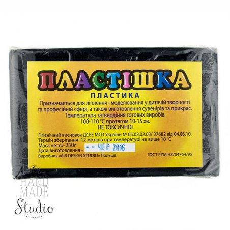 Полимерная глина пластишка/bebik черная, 250 г, 0124