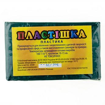 Полимерная глина пластишка/bebik изумрудная, 250 г, 0120