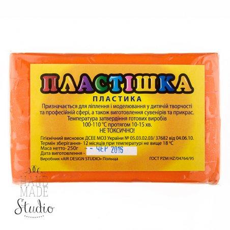 Полимерная глина пластишка/bebik оранжевая, 250 г, 0107
