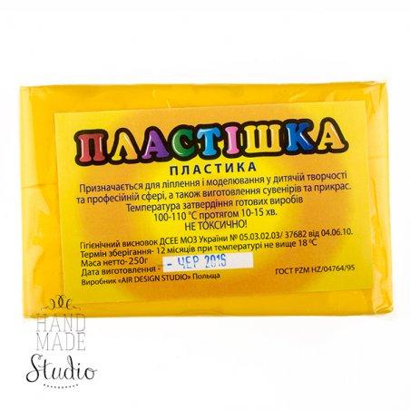 Полимерная глина пластишка/bebik желтая, 250 г, 0106