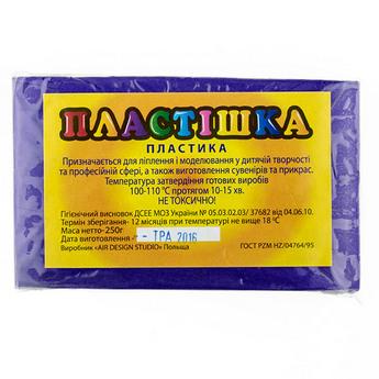 Полимерная глина пластишка/bebik фиолетовая, 250 г, 0112