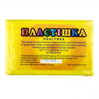Полимерная глина пластишка/bebik лимонная, 250 г, 0104