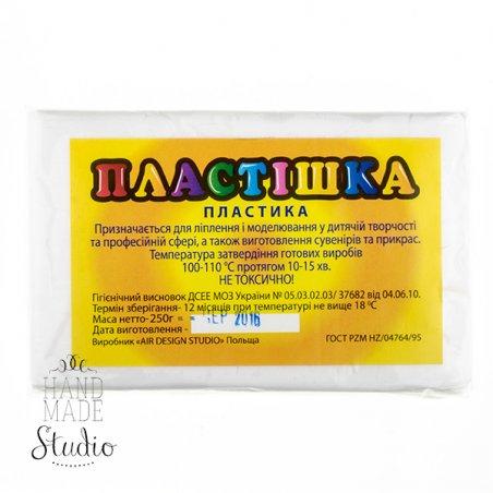 Полимерная глина Пластишка/bebik, №0101 белая, 250 г