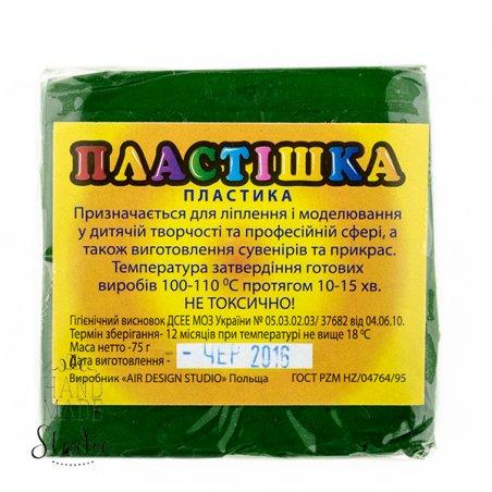 Полимерная глина пластишка/bebik зеленый травяной, 75 г, 0118