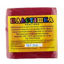 Полимерная глина пластишка/bebik красная бордо, 75 г, 0110
