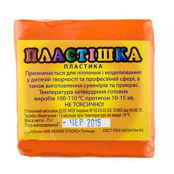 Полимерная глина пластишка/bebik оранжевая, 75 г, 0107