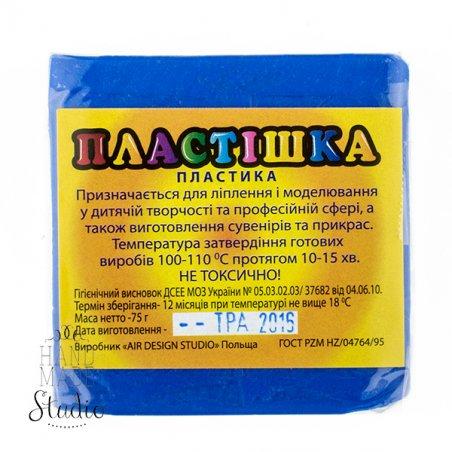 Полимерная глина пластишка/bebik синяя ультрамарин, 75 г, 0113