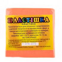 Полимерная глина пластишка оранжевая флуоресцентная, 75 г, 0203