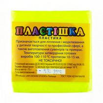 Полимерная глина пластишка лимонная  флуоресцентная, 75 г, 0202