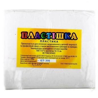 Полимерная глина пластишка/bebik белая, 500 г, 0101
