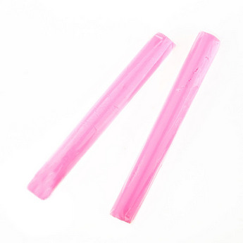 Полимерная глина пластишка светло-розовая  флуоресцентная, 17 г, 0205