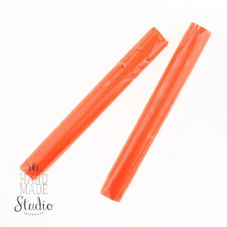Полимерная глина пластишка оранжевая флуоресцентная, 17 г, 0203