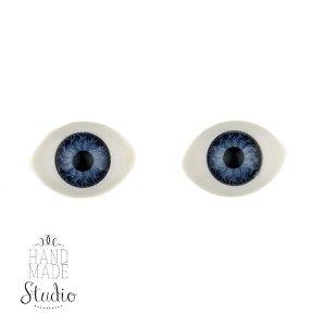 Глаза для кукол, цвет - синий, 14мм