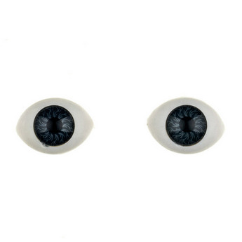Глаза для кукол, цвет темно-серый, 14 мм
