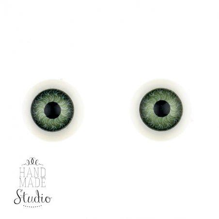 Глаза для кукол, цвет зеленые, Ø12 мм