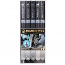 Набор 5 маркеров Chameleon 5-Pen Gray Tones Set  СТ0509