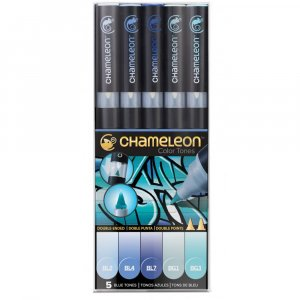 Набор 5 маркеров Chameleon 5-Pen Blue Tones Set СТ0513
