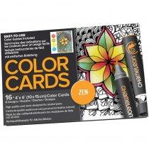 Склейка-раскраска Chameleon Color Cards - Zen Doodles