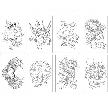 Склейка-раскраска Chameleon Color Cards - Totally Tattoo
