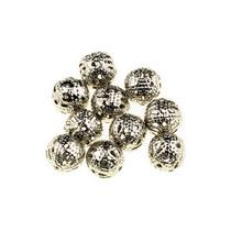 №6 Металлические ажурные бусины, цвет  сталь 0,6 см