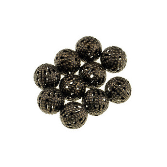 цвет  бронза 0,8 см, №13 Металлические ажурные бусины,