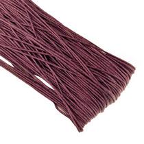 Вощеная нить, цвет бордовый, 1 мм, 1м