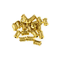 Разделительная бусина/спейсер, 7х5 мм, цвет античное золото, 2 шт