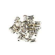 Разделительная бусина/спейсер, 7х5 мм, цвет тибетское серебро, 2 шт
