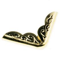 Уголок  металлический, цвет золото 2х2 см