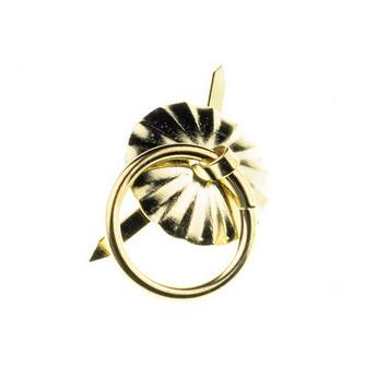 Ручка - колечко металлическая, цвет золото 2,5 см