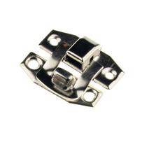Замочек металлический А-012, цвет сталь, 2,4х1,9 см