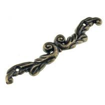 Ручка металлическая С 176, цвет бронза 9х1,5 см