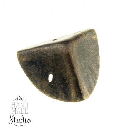 Уголок  металлический, цвет бронза 1,5х1,5 см