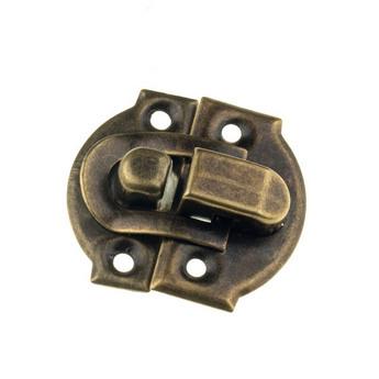 Замочек для деревянных заготовок металлический №1, цвет бронза, 3х3 см